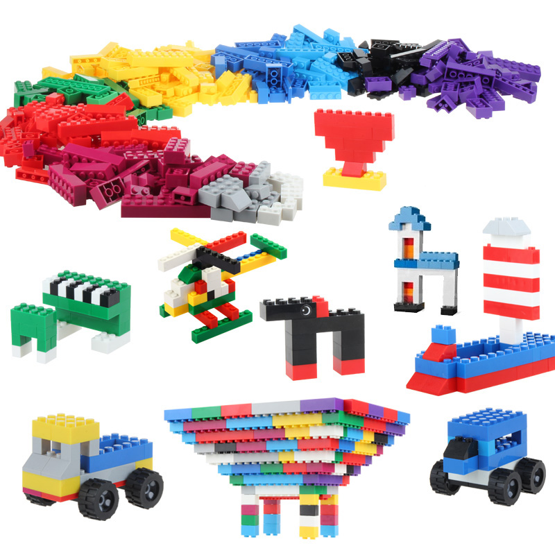 500 Pcs DIY Creative Brick Toys For Child Educational Building Block Sets Bulk Bricks Compatible With major brand blocks<br><br>Aliexpress