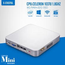Mini computer Celeron C1037U 8GB RAM 32GB SSD+WIFI Desktop Computer Mini PC Thin Client Support Wireless Keyboard Mouse