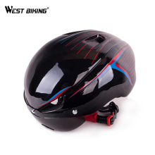 WEST BIKING Integrally Ultra-Light Bicycle Helmet Aerodynamic EPS Lens Mountain Bikes Helmet MTB Bike Accessories Cycling Helmet(China)