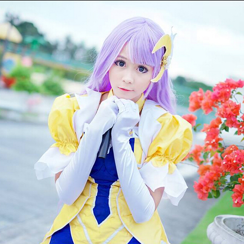 New high quality Anime wigs iMCOSER Free Shipping Date A Live Izayoi Miku Silk Straight Purple Synthetic Hair Heat Resistant<br><br>Aliexpress