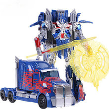 Deformed Robot 4 Voyager Optimus Prime Autobot car-styling 16CM-18CM action figure model kids toys educational toy Anime figures