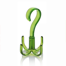PHFU 4 Home Creative New Mini Clothes Bag Shoes Scarf Holder Hanger Hook Closet Organizer Green