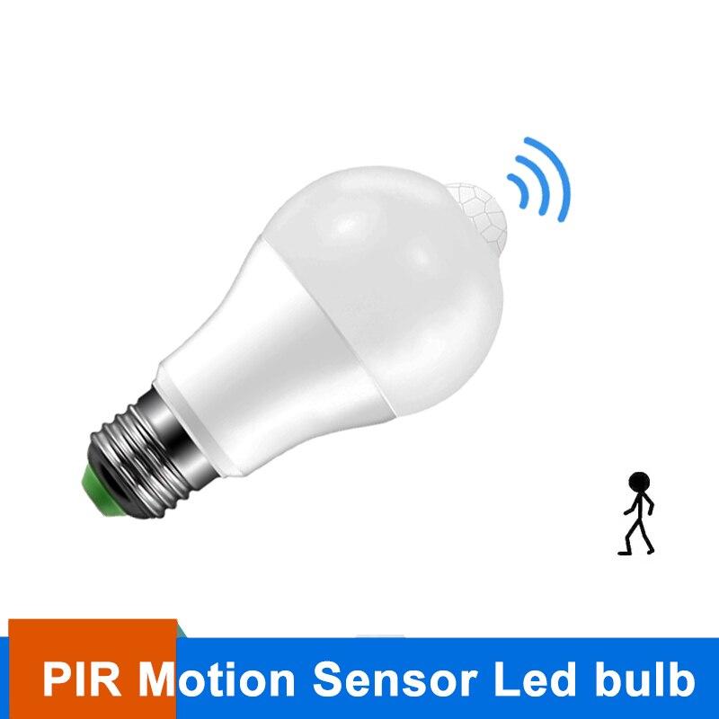 E27 LED PIR Motion Sensor Bulb 10W AC85-265V Smart LED Bulb  Auto turn on/off Lampada Led For Corridor Aisle Stairs Balcony