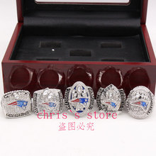 5pcs/set 2001 2003 2004 2014 2016 New England Patriots Super Bowl Championship Rings Set ,Drop Shipping Gift For Friends(China)