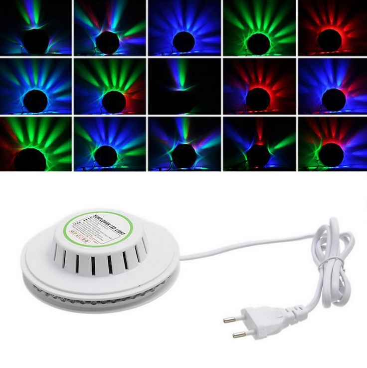 Voice control Magic Color Super Bright Strobe LED Stage Lights~Best Design For Pub,Show,Wedding,Disco,Ball,Looks Like An UFO~<br><br>Aliexpress