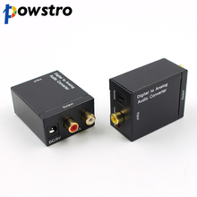 Powstro 3.5mm Optical Coaxial Toslink Digital to Analog Audio Converter Adapter Coaxial Toslink Audio to RCA L/R Audio(China)