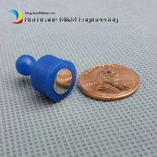 5 pieces Drawing Pin Blue Color NdFeB magnetic drawing tack for Office Home and School using Magnetic Thumbtack