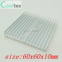 60x60x10mm  Aluminum HeatSink  for Chip CPU  GPU VGA  RAM  IC  LED  heat sink  radiator COOLER cooling