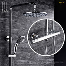 Buy HPB Brass Thermostatic Bathroom Hot Cold Water Mixer Bath Shower Set Faucet torneira banheiro Shower Head HP2101 for $280.80 in AliExpress store