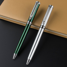 luxury MONTE MOUNT Silver and green options stationery ink black Refill office supplies Luxury writing metal Ballpoint Pen