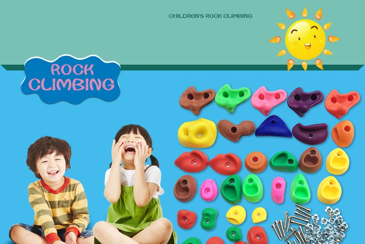 HTB1JFfnRXXXXXX XFXXq6xXFXXXg - 16 to 32 PCS / SET Plastic children Rock Climbing Wall Rock Stones Kids Toys Sports tool outdoor game kindergarten Without scre