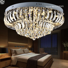 LED Crystal Light ceiling lamp bedroom living  lamp modern minimalist restaurant light lobby luxury Luxury lamp Dia800xH300mm