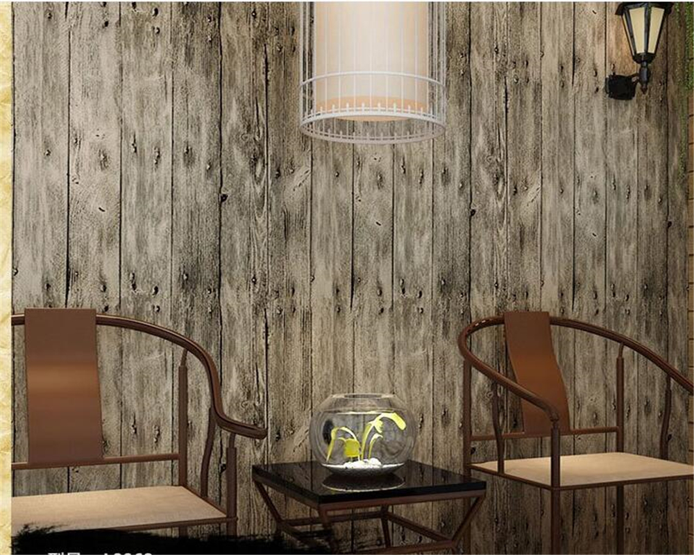 beibehang Chinese style imitation wood grain 3d wallpaper solid bedroom study full shop wood grain wallpaper thickening <br>
