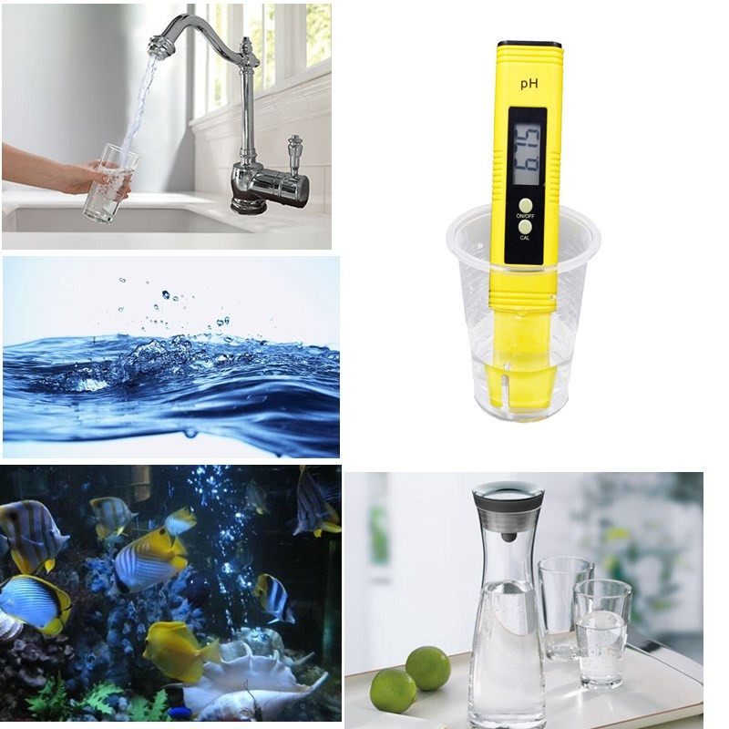 100pcs by dhl fedex Digital PH Meter Tester Water Wine Urine Monitor accuracy 0.01 automatic calibration 12%off 11
