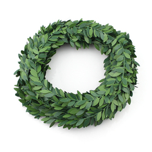 7m Artificial Green Flower Nylon iron wire Leaves Rattan DIY wreath Accessory For Wedding Decoration garland(China)