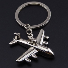 US airlines model metal keychain Boeing 737 747 757 767 777 787 model key chain air plane aircrafe(China)