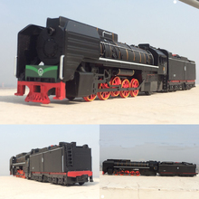 Free Shipping shenghui Vintage alloy train model of classical steam locomotive acousto-optic toy with sound and light 1:87