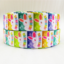 "(5yds per roll) 1""(25mm) Easter high quality printed polyester ribbon 10 yards,DIY handmade materials,wedding gift wrap,10Yc871(China)"