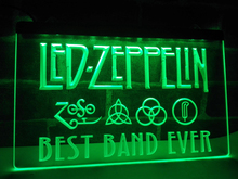 LA313- Best Band Ever Zeppelin LED Neon Light Sign home decor crafts(China)