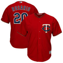 MLB Men's Minnesota Twins Eddie Rosario Baseball Alternate Scarlet Cool Base Replica Player Jersey(China)