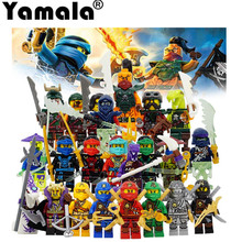 [Yamala]2017 Compatible LegoINGlys NinjagoINGlys Sets NINJA Heroes Kai Jay Cole Zane Nya Lloyd With Weapons Action Toy  Figure