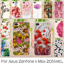AKABEILA Silicone Phone Cases Cover For Asus Zenfone 4 Max Pro Zenfone 4 Max Plus ZC554KL Zenfone4 Max Rose Flower Soft TPU Case(China)