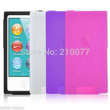In stock!! 1pcs/lot,New Soft Silicone Case Cover Shell for Apple iPod Nano 7 Protective Skin 7th Gen(China)