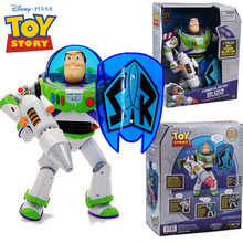 NEW hot 30cm Buzz Lightyear Toy story luminous To speak collectors action figure toys Christmas gift doll(China)