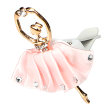 Auto Outlet Air Freshener 4 Colors Diamond Ballet Girl Auto Decors Car Styling Car Air Vent Perfume Solid Fragrance(China)