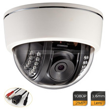 1080P Sony COMS 3.6mm Plastic Dome Security IP 2.0 Megapixel IR Camera CCTV
