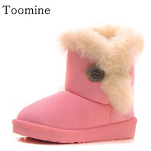 Boys Girls Snow Boots Winter Ankle For Children Shoes New Suede Warm Boot Child Fashion Sneaker Toddler Shoes For Kids Girls(China)