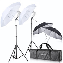 Buy Neewer Camera Double Speedlight Flash ShoeMount Swivel Soft Umbrella Kit Canon 430EX II 580EX II 600EX-RT Nikon SB600 for $88.61 in AliExpress store