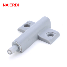 NAIERDI 5Set/Lot Gray White Kitchen Cabinet Door Stop Drawer Soft Quiet Close Closer Damper Buffer Cabinet Catches With Screws
