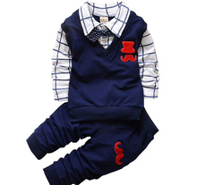 BibiCola Spring Autumn Baby Boy Clothing Sets Kids Clothes Set Toddler Boys Cotton t-shirts+pants Sports Suit Tracksuit Set