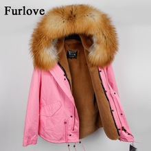 Real raccoon fur collar hooded new winter jacket women parka fur coat fashion thick parkas casual warm jackets DHL free shipping(China)