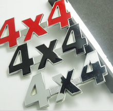 1 Pcs Plastic+aluminum 3D 4x4 Displacement Car stickers Logo Emblem Badge Truck Auto Motor Car Styling Sticker Decal 3 Colors