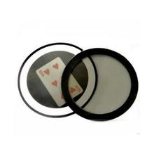 Free shipping Pack of 5 Magic Mirror Small Dollar Version Poker Card Magic Tricks Close up illusion Fun Gimmick(China)