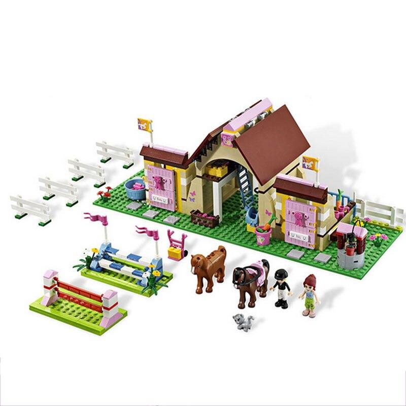 Bela 10163 Girls Friends Heartlake Series Mias Farm Horse Stables Building Blocks Girls Toys For Children Gift 3189 Legoingse<br>