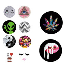 Fashion Cute Round POP Phone Holder for Iphone 7 6 5S phone Support Mobile Phone Stand For Huawei P8 Lite(China)
