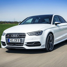 For Audi A3 S3 Style Chrome Frame and four Ring Front Bumper Mesh Grill Grille Car-styling 2014~2016
