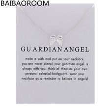 Fashion Jewelry New Angel Feather Wings Alloy Clavicle Pendant Short Chocker Necklace Women Gift
