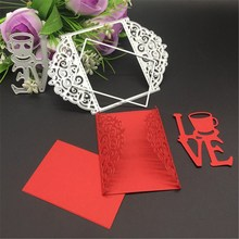 METAL CUTTING DIES 3pcs DIY Scrapbook album PAPER CRAFT embossing stencils template love greeting card frame rectangle cutter