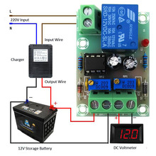 XH-M601 Battery Charging Control Board 12V Intelligent Charger Power Supply Control Module Panel Automatic Charging/Stop Power