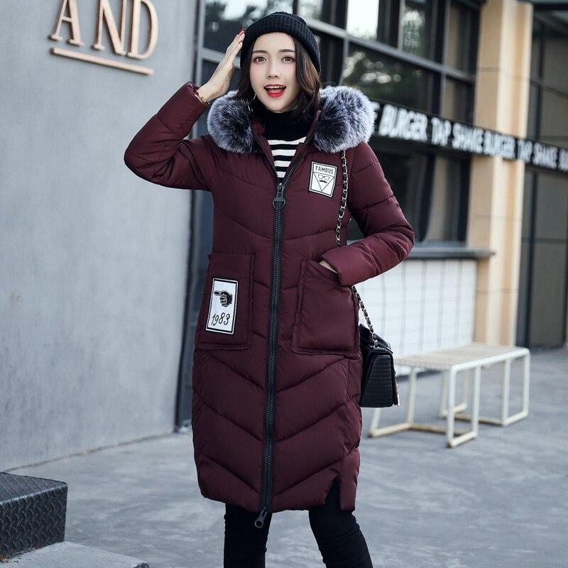 Women jackets 2017 Fur Hooded Jacket for women Padded Cotton Down Winter Coat women Long Parka Womens Coats Clothing Plus sizeÎäåæäà è àêñåññóàðû<br><br>