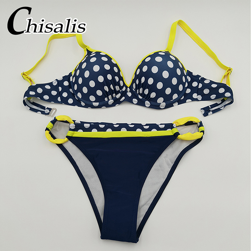 Sexy Push Up Bikini 19 Women Swimwear Print biquini femme Brazilian Bikinis Set Bathing Suit Women Beachwear Female Swimsuit 33