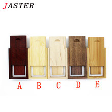 JASTER custom LOGO Brand new Wooden USB flash drive pen drives wood+gift box pendrive 8GB 16GB 32GB memory stick wedding gifts