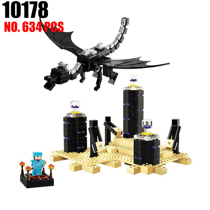 AIBOULLY Bela 10178 Minecrafted EnderDragon 634 Pcs My Word Building Blocks Toys For Children Compatible with 21117 <br>