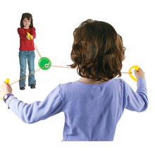 Children Toys Jumbo Speed Balls Through Pulling Ball Indoor Outdoor Sensory Toys Outdoor Game For Children Playing Outdoor(China)