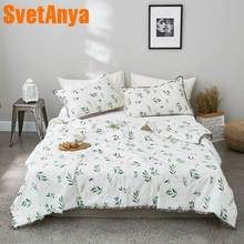 Svetanya 2019 green Plants printed Quilt stiching bedding Throws Blanket (no Pillowcase) Single Double size(China)