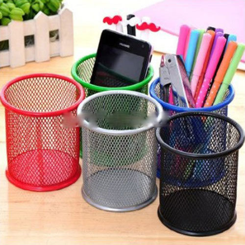 2017 Rushed Limited Estojo Office Organizer Round Cosmetic Pen Pencil Pot Holder Stationery Container 5 Colors Al3246<br><br>Aliexpress